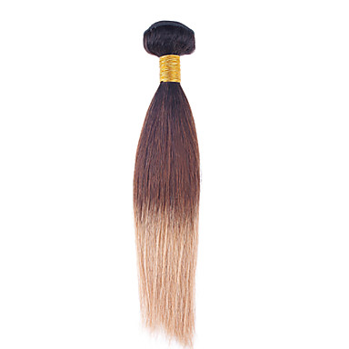 Ombre Hair Weaves Brazilian Texture Straight 1 Piece hair weaves
