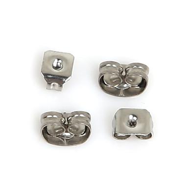 beadia 400pcs earnuts brinco de aço inoxidável tampão resultados da jóia em forma de colar&pulseira (mistas 2 tamanhos)