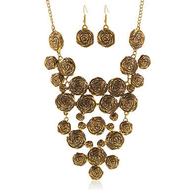 סט תכשיטים שרשרת / עגילים ארופאי גדילים מוזהב שרשראות עגילים ל חתונה Party יומי קזו'אל 1set מתנות חתונה