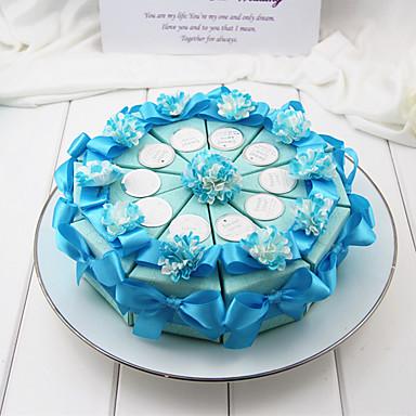 Kreisförmig Quadratisch Zylinder Kartonpapier Geschenke Halter mit Schleife Bänder Print Blume Geschenkboxen