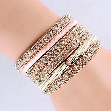 Bracelet Bracelets Bracelets en cuir Alliage Cuir Forme Géométrique Mode Bohemia style Soirée Quotidien Décontracté Bijoux CadeauTaies