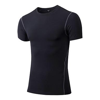Herrn Laufshirt Kurzarm Rasche Trocknung Atmungsaktiv Videokompression Schweißableitend Dehnbar Sweatshirt T-shirt Oberteile für Rennen