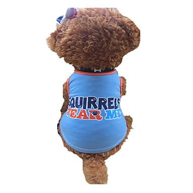 Hund T-shirt Hundekleidung Buchstabe & Nummer Blau-Gelb Baumwolle Kostüm Für Haustiere