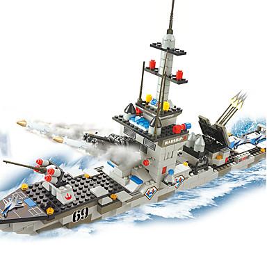 Blocs de Construction Pour cadeau Blocs de Construction Maquette & Jeu de Construction Navire de Guerre Plastique Au-dessus de 6 Kaki