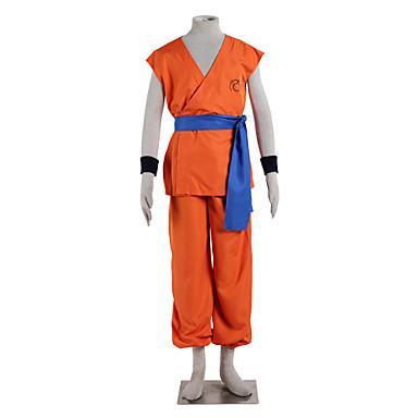 קיבל השראה מ Dragon Ball Goku אנימה תחפושות קוספליי חליפות קוספליי אחיד ללא שרוולים עליון מכנסיים חגורה עבור בגדי ריקוד גברים
