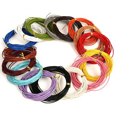 beadia 5 meter 1mm rund skinn ledningen& metalltråd& string (16 farger)