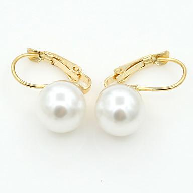 Imitation de perle Alliage Mode Forme de Cercle Or Bijoux Mariage Soirée Quotidien Décontracté Sports 1 paire