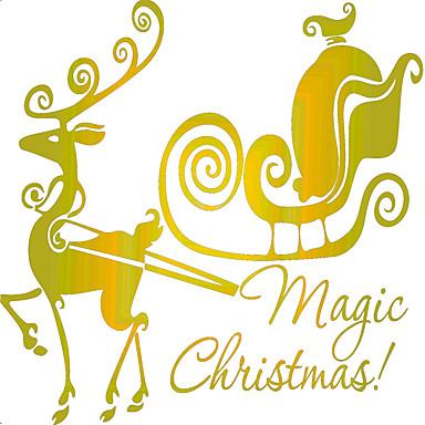 Dyr Romantik Jul Vægklistermærker Fly vægklistermærker Dekorative Mur Klistermærker, PVC Hjem Dekoration Vægoverføringsbillede