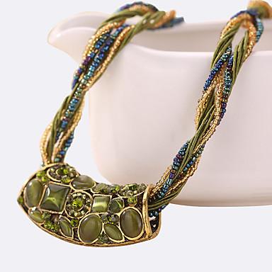 Modische Halsketten Anhängerketten Schmuck Alltag / Normal Vintage Aleación / Acryl / StrassDunkelblau / Verschiedene Farben / Fuchsie /