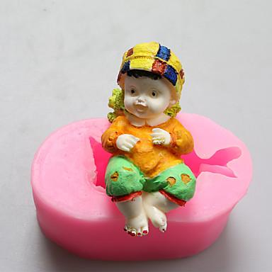 ילד שוקולד תינוק תבניות סיליקון, תבניות עוגה, תבניות סבון, כלי קישוט בישול