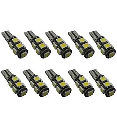 10pcs T10 Coche Bombillas 2 W SMD 5050 200 lm 9 LED Luz de Intermitente For Universal