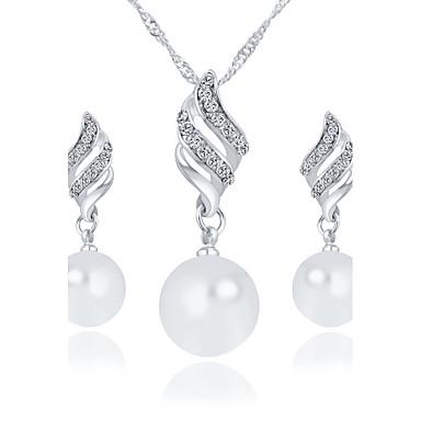 Bijoux Colliers décoratifs Boucles d'oreille Nuptiales Parures Imitation de perle Mariage Soirée Quotidien Décontracté Perle 1set Femme