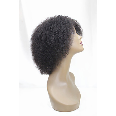 Human Hair Capless Wigs Remy Human Hair Curly / Kinky Curly Short Bob Middle Part Natural Short Machine Made Wig Brazilian Hair Women's