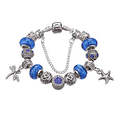 Dame Jenter´ Vedhend Armband Strand Armbånd Krystall Akryl Strass Sølvplett imitasjon Diamond Legering Holdbar Mote BedårendeGeometrisk