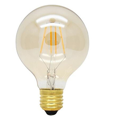 1pc 4W 360lm E26 / E27 Bombillas de Filamento LED G125 4 Cuentas LED COB Decorativa Blanco Cálido