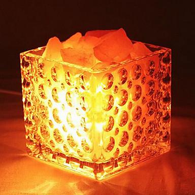 criativa himalaia de cristal de sal europeu decorativo pequeno quarto lâmpada nocturna cintilante quentes