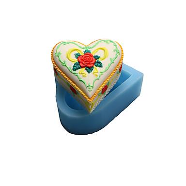 Bakeform Hjerte For Kake For Småkaker For Sjokolade For Terte Silikon Høy kvalitet Gør Det Selv Valentinsdag