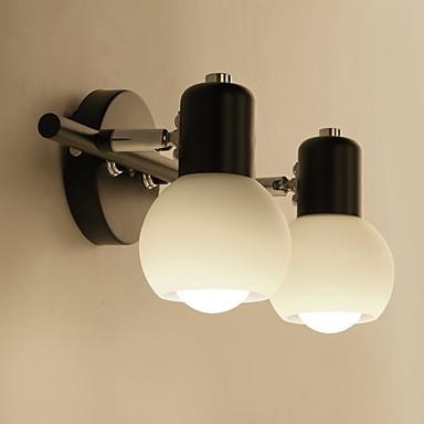 retro enkelhet glass vegglamper metall base cap spisestue kaffebarer bar bord gangen bad speil lys