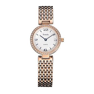 Mulheres Relógio de Moda Quartzo Quartzo Japonês Impermeável Aço Inoxidável Banda Prata marca Semdu