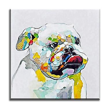 מצויר ביד בעלי חיים אופקי,קלסי מודרני מסורתי ריאליסטי ים- תיכוני פסטורלי סגנון ארופאי בד ציור שמן צבוע-Hang קישוט הבית פנל אחד