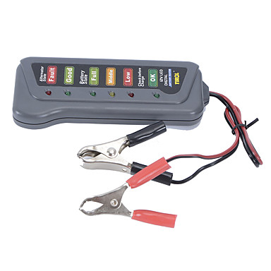 neue 12v Auto Autobatterie Generatorlast 6 LED-Licht-Batterie-Tester digital