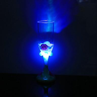 1 stk fargerike farge kreativ tilfeldig Valentinsdag ledet lampe nattlys ledet drinkware