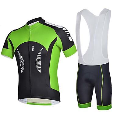 Esportivo Moto/Ciclismo Camisa + Shorts / Blusas / Fundos Homens Manga Curta Respirável / Redutor de Suor Elastano BrancoS / M / L / XL /