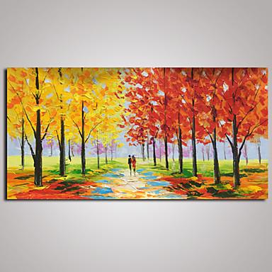 Håndmalte Landskap Vannrett,Moderne Europeisk Stil Et Panel Lerret Hang malte oljemaleri For Hjem Dekor