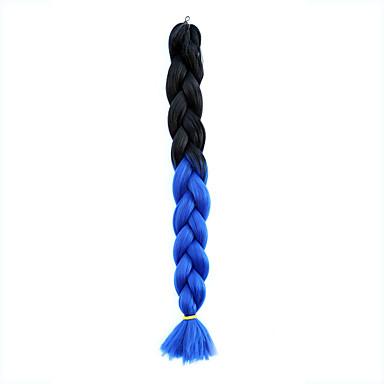 ג'מבו צמות Box Kanekalon כחול תוספות שיער 20