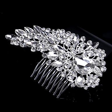 פנינה קריסטל ריינסטון סגסוגת שיער מסרקים headpiece סגנון אלגנטי