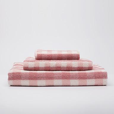 バスタオルセット-コットン100%-染糸-Wash Towel:34*75cm(13.3*29.5.1inch),Bath Towel:70*140cm(27.5*55.1.1inch)