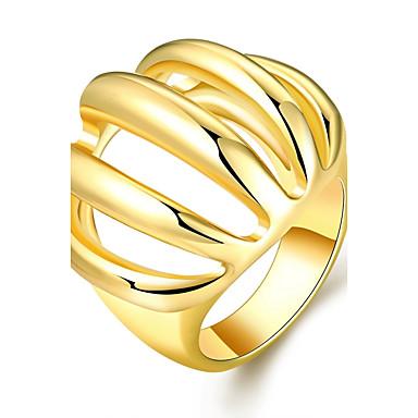 billige Motering-Dame Band Ring Statement Ring Gylden Rose Gull 18K Gullbelagt Edelsten Gullbelagt Geometrisk Form Statement Uvanlig Unikt design Bryllup Fest Smykker