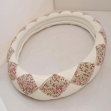 voordelige Auto-interieur accessoires-ShanZuan diamant lederen auto-optreden de rol ofing set vijzel auto stuurwiel covers