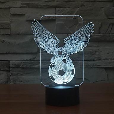 3D כדורגל נשר מגניבה הובילה אור לילה מנורת לילה קישוט לחדר הצבע משתנה