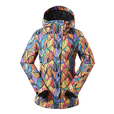 GSOU SNOW Damen Skijacke Wasserdicht warm halten Windundurchlässig UV-resistant Isoliert Feuchtigkeitsdurchlässigkeit tragbar Atmungsaktiv