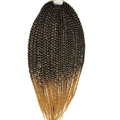 Box Zöpfe Twist Braids Haarverlängerungen 24 inch Kanekalon 20 Strand 100g Gramm Haar Borten