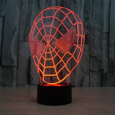 3D LED lys lampe soverom dekorasjon natt lys for barne barn sove lampe farge endring Nattlys