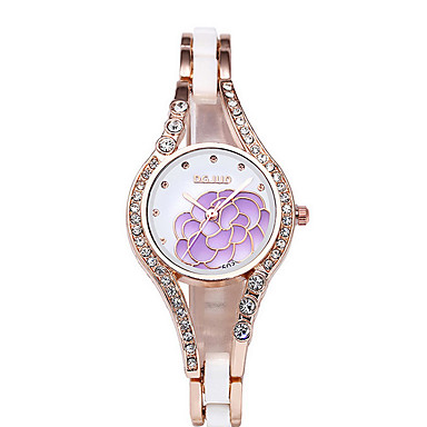 Mulheres Relógio de Moda Bracele Relógio Simulado Diamante Relógio Quartzo Relógio Casual imitação de diamante Aço Inoxidável BandaPreta