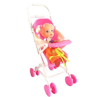 preiswerte Puppen-1487 Kelly Puppenzubehör Mini-Kinderwagen süßen Traumhaus ohne bb Auto Spielzeug, Baby, Baby