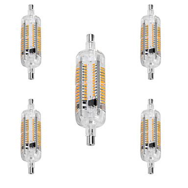 R7S Lâmpadas Espiga T 104 SMD 3014 800 lm Branco Quente Branco Frio Impermeável Decorativa AC 220-240 V 5 pçs