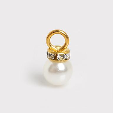 בגדי ריקוד נשים תליונים קסמים Circle Shape Geometric Shape Round Shape פנינה ציפוי זהב פלסטי יהלום מדומה אופנתי תכשיטים עבור יומי