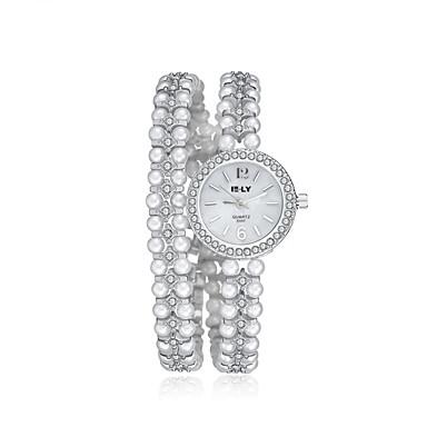 baratos Relógios Senhora-jewelora Mulheres Relógio de Moda Relógio Elegante Bracele Relógio Quartzo Branco Resistente ao Choque Relógio Casual Analógico Vintage Com Pérolas Elegante - Prata