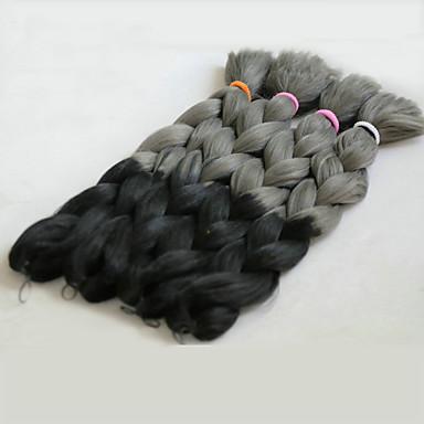 Cabelo para Trançar Tranças de caixa Tranças Jumbo / Extensões de Cabelo Natural 100% cabelo kanekalon Tranças de cabelo Diário