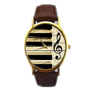 Hombre Reloj de Pulsera Cronógrafo PU Banda Destello / Moda Negro / Blanco / Marrón