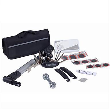 kits de reparação de pneus de bicicleta 15 em 1 bicicleta kit ferramentas de bicicleta reparação de bicicletas definir com bomba bolsa