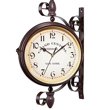 1 unid metálico estilo europeo vintage reloj de pared de hierro decoración del hogar