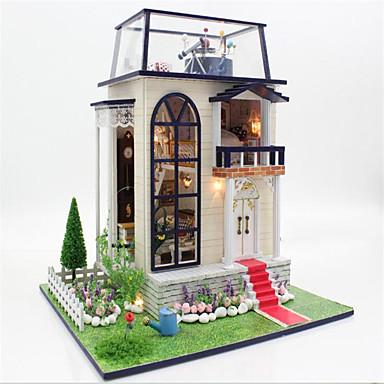 Tue so als ob du spielst Sets zum Selbermachen Puppenhaus Spielzeuge Rosen Burg Haus Holz 1 Stücke Weihnachten Geburtstag Kindertag