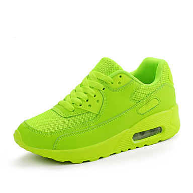 Mulheres Sapatos Tule Primavera / Outono Rasos Sem Salto Cadarço Preto / Vermelho / Verde