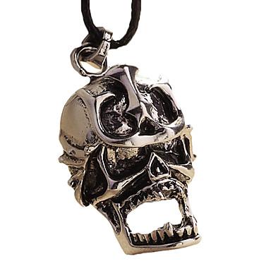 colar de aço inoxidável - âncora esqueleto