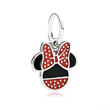 abordables Collier-Pendentif Souris Animal Le style mignon Broche Bijoux Rouge Pour